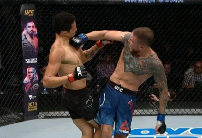 'Highlight reel for the ages!: Vicious spinning backfist KO at UFC Mexico