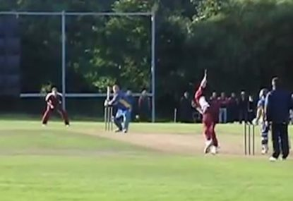 Batsman pays the price for not wearing helmet against West Indian quick