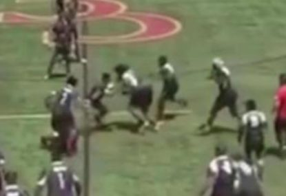 Big Boppa bulldozes defender in bone-crunching bump-off