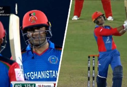 Afghanistan pair smash an astonishing seven sixes in a row