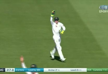 Tim Paine finally has some success with the DRS as Aussies clean up the tail