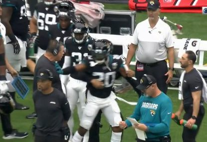 Everything totally fine as Jaguars coach and star need to be separated after heated exchange