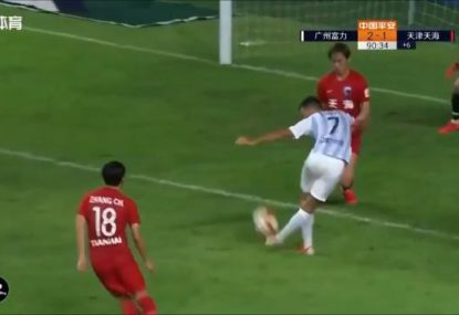 Chinese league rocked by insane, last-minute 'Rabona' winner