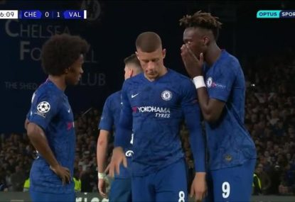 Chelsea sub insists on taking penalty, then sprays it