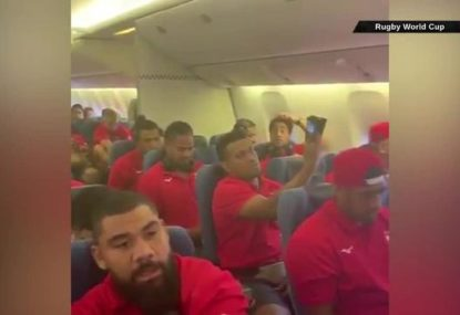 Tonga sing their way to Japan with extraordinary in-flight performance