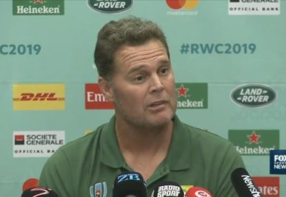 Springboks coach has a message for referees ahead of RWC clash with All Blacks