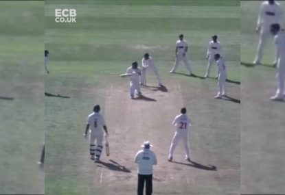 Mark Cosgrove's brain explosion for the ages leads to bizarre run out