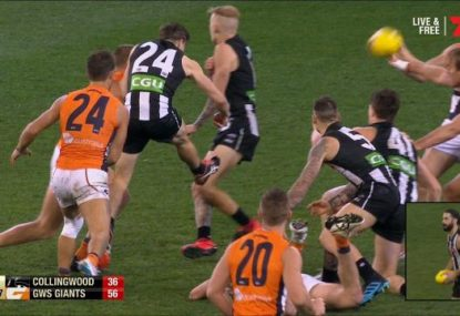 'That's touched!': Massive drama as the ARC clears Magpie goal