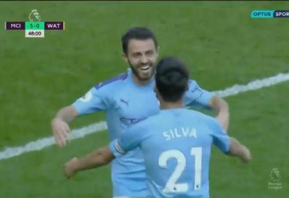Manchester City destroy Watford with stunning first half goal blitz