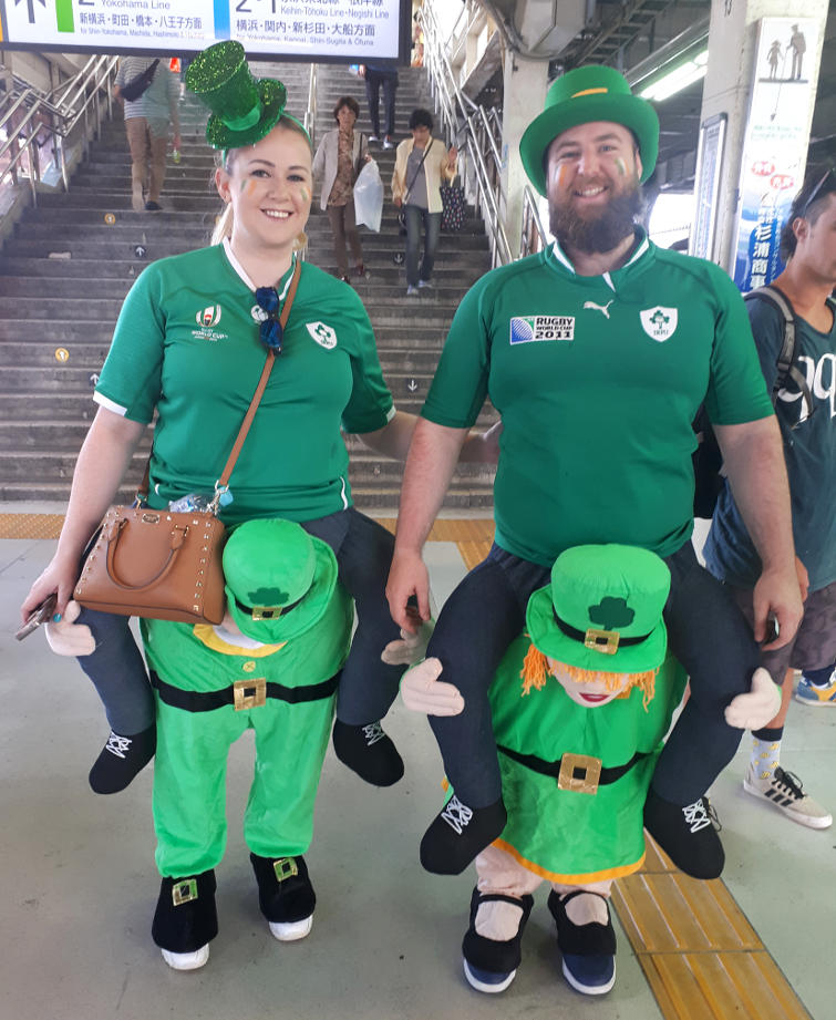 Irish fans at the World Cup