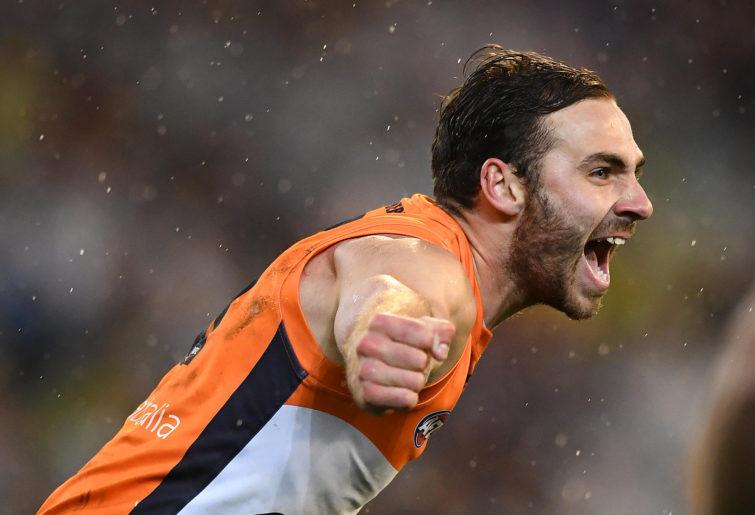Jeremy Finlayson celebrates a goal