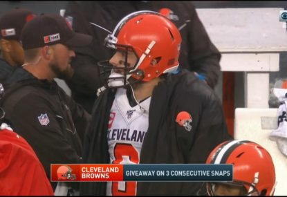 Cleveland Browns QB gives up the worst interception we've seen