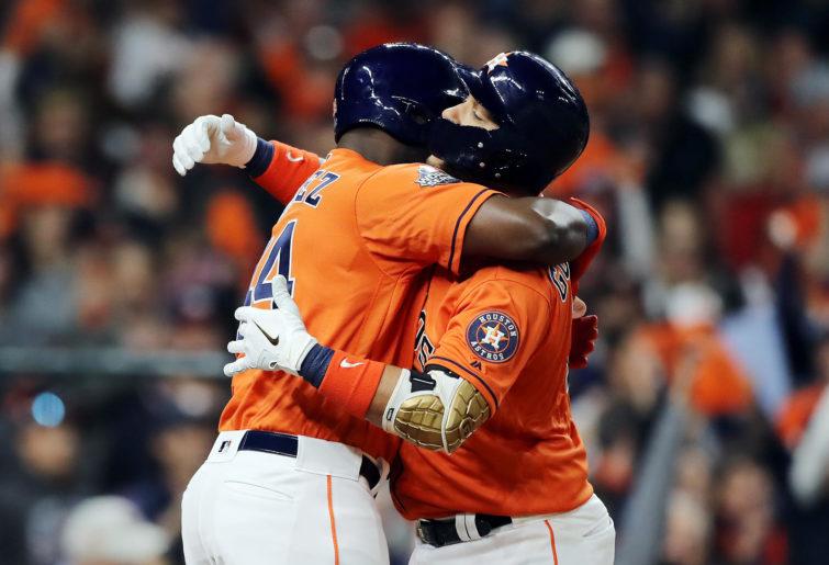 The Houston Astros celebrate