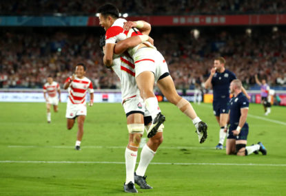 Japan into RWC quarter-finals after beating Scotland 28-21