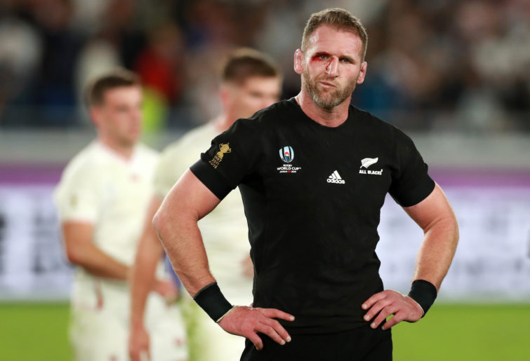Kieran Read dejected.
