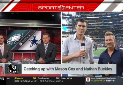 Prepare to cringe over this American interview with Mason Cox and Nathan Buckley