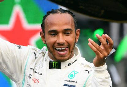 Lewis Hamilton takes a dominant pole in a wet qualifying session in Steiermark