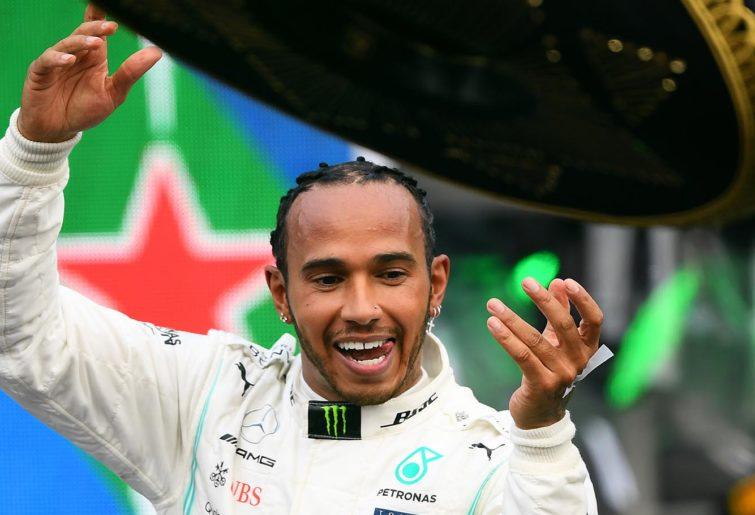 Mexican GP Lewis Hamilton Podium