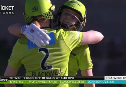 16-year-old guides Sydney Thunder to victory with record half-century