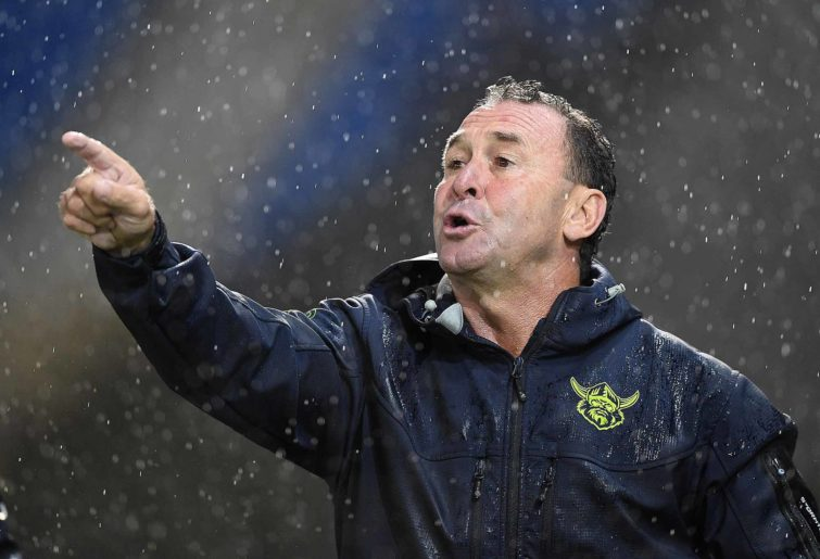 Ricky Stuart in the wet