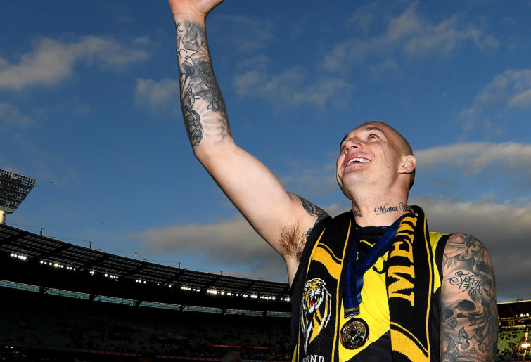 Dustin Martin after the 2019 grand final
