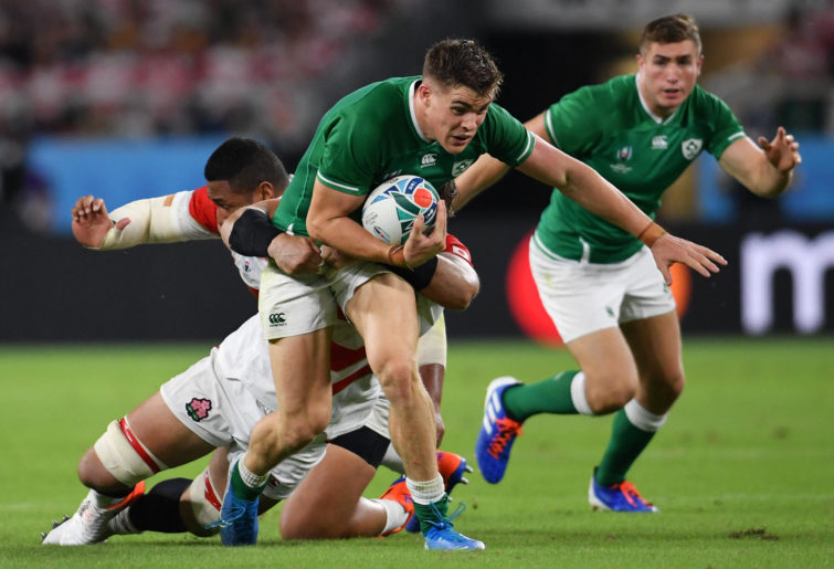 Ireland's Garry Ringrose in action
