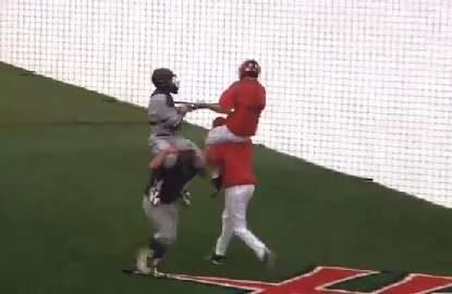 Baseball jousting?