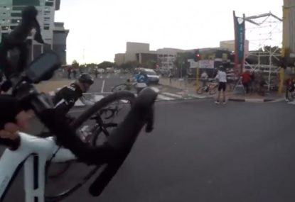 Cyclists blown away by ridiculous 100 kph winds