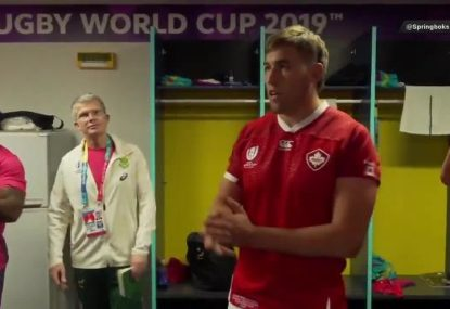 The greatest moment at the Rugby World Cup happened in the South African dressing room