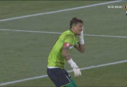 Nepal keeper suffers one of the most bizarre injuries you're likely to see on a football pitch