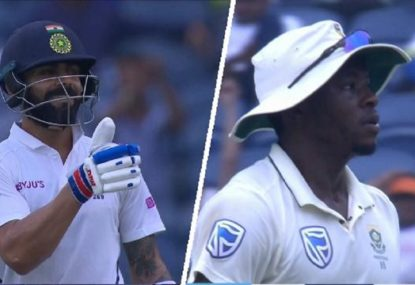Kohli trolls Rabada after insipid fielding effort leads to four overthrows