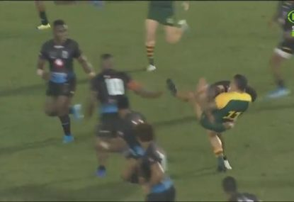 Tyson Frizell crunched in massive hit during Prime Minister's XIII victory