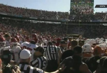 Every player gets an unsportsmanlike conduct foul in pre-Red River Showdown skirmish