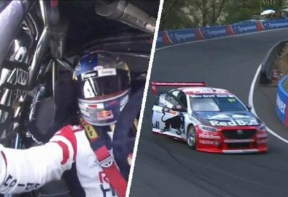 Bizarre scenes as Shane van Gisbergen's door refuses to close at Bathurst 1000