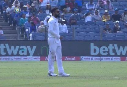 Virat Kohli goes full park skipper, gives himself the first over after tea