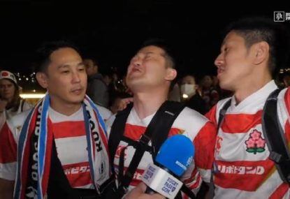 Three Japan fans give the best interview of the World Cup