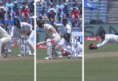 Indian keeper takes ridiculous juggled catch to break Faf du Plessis' heart