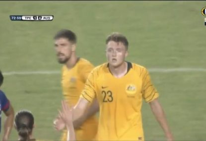 Defender Harry Souttar just can't stop scoring for Australia