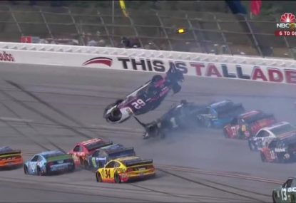 NASCAR driver's astonishingly chill reaction to terrifying 360 flip
