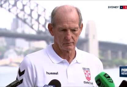 Wayne Bennett at his frosty best with reporters over Sam Burgess questions