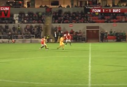 All-time goalkeeping howler lets in ludicrous header... from beyond halfway