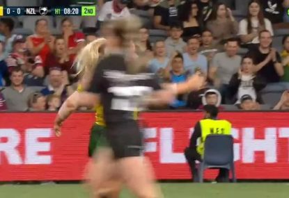 Jillaroos open the scoring against Kiwis in absolutely no time with an outstanding try
