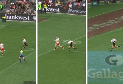 Did this USA player give up on trying to stop Shaun Johnson?