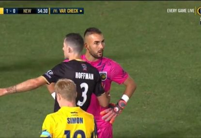 Jets keeper's blunder forces rare penalty retake... and  costs him a superb save