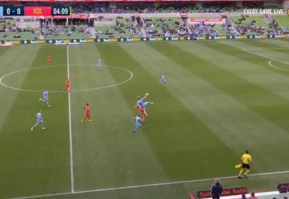 Commentators perplexed as City defender's poor challenge draws AFL comparisons