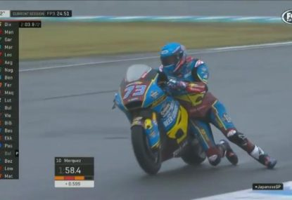 Alex Marquez pulls off a stunning save that has to be seen to be believed