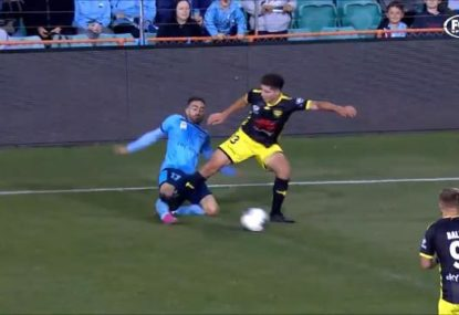 'You just can't do that': Phoenix defender sent off for 'horrible' tackle
