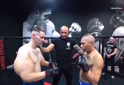 'Popeye'-armed Russian gets absolutely thrashed in MMA fight