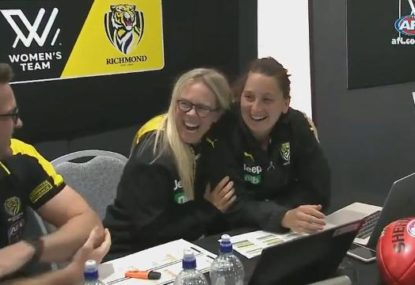 Amusing moment as AFLW recruiting manager selects herself in draft