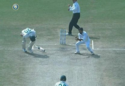 The wicket that sums up South Africa's tour of India